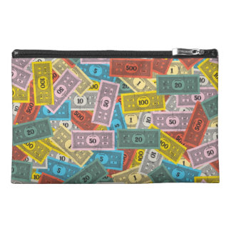 Vintage Monopoly Money Travel Accessory Bag