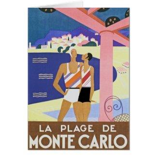 Vintage Monte Carlo Beach card