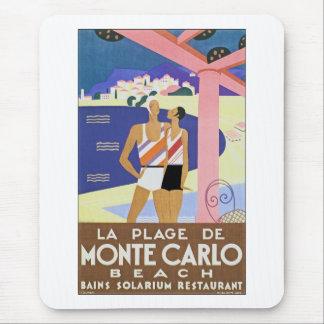 Vintage Monte Carlo Beach Mouse Pad