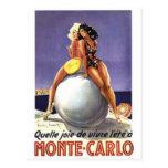 Vintage Monte Carlo, Mónaco - Tarjeta Postal