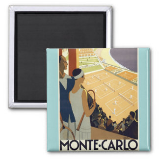 Vintage Monte Carlo Monaco Travel Magnet