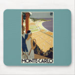 Vintage Monte Carlo Monaco Travel Mousepad