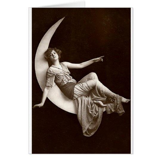Vintage *Moon Beauty* Card