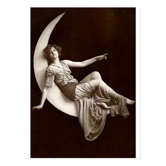 Vintage *Moon Beauty* Postcard