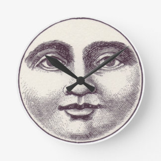 Vintage Moon Face Wall Clock