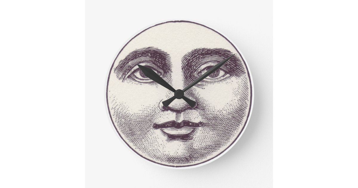 Vintage Moon Face Vintage Moon Face Wall...