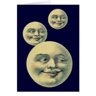 Vintage Moon Greeting Card