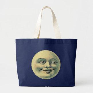 Vintage Moon Large Tote Bag
