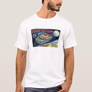 Vintage Moon Patrol Space Ship Robot Toy Box Art T-Shirt