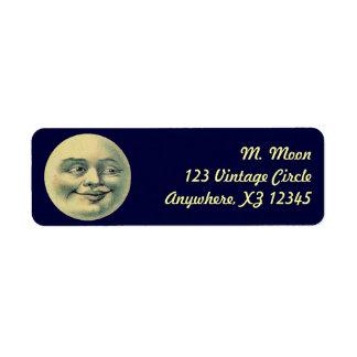Vintage Moon Return Address Labels