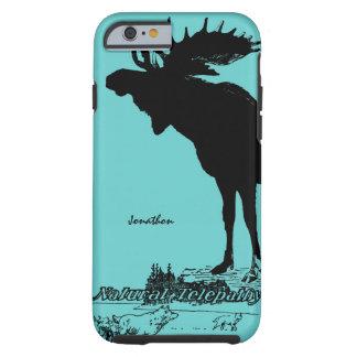 Vintage Moose and Wolf Wildlife -Choose Case Color