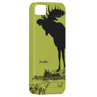 Vintage Moose and Wolf Wildlife -Choose Case Color iPhone 5 Case