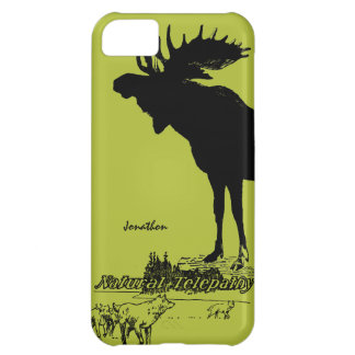 Vintage Moose and Wolf Wildlife -Choose Case Color iPhone 5C Cases