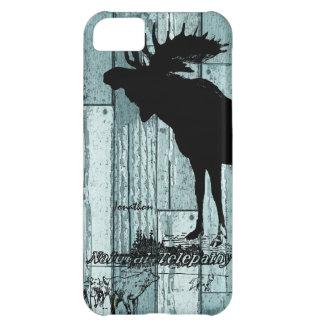 Vintage Moose and Wolf Wildlife iphone 5 Case
