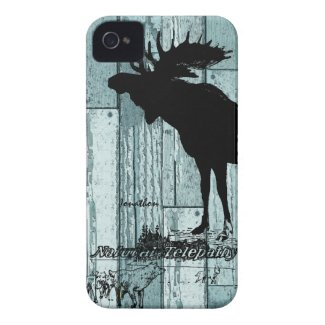 Vintage Moose and Wolf Wildlife iphone Case