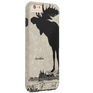 Vintage Moose and Wolf woodgrain iphone case Tough iPhone 6 Plus Case