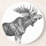 Vintage Moose Beverage Coasters