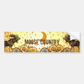 Vintage Moose Bumper Sticker