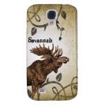 Vintage Moose Faded Damask Burnt Vines iPhone Case Galaxy S4 Cover
