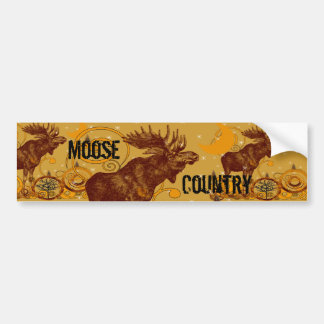 Vintage Moose Gifts Bumper Sticker