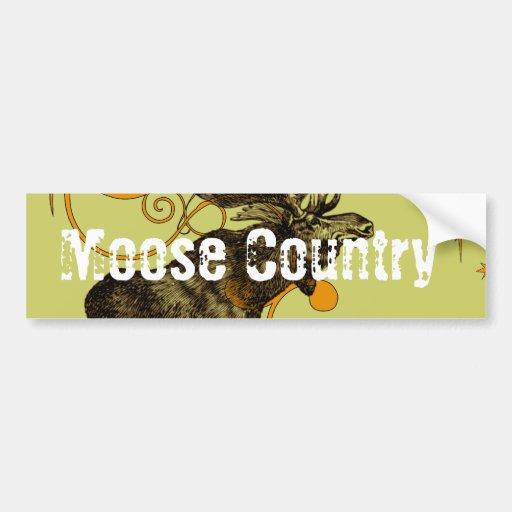 Vintage Moose Gifts Bumper Sticker