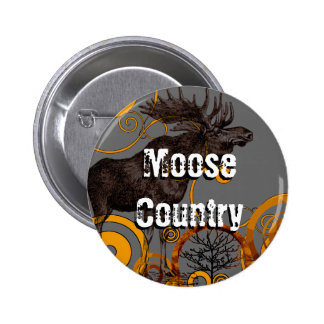 Vintage Moose Gifts 2 Inch Round Button