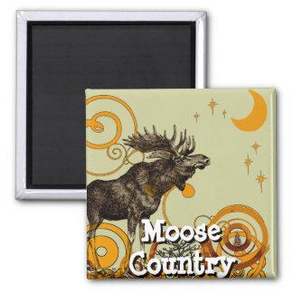 Vintage Moose Gifts Magnet