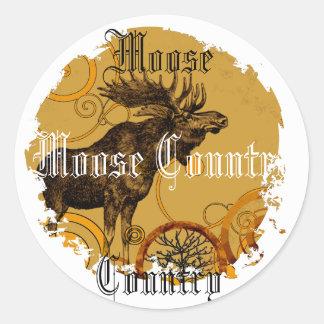 Vintage Moose Gifts Sticker