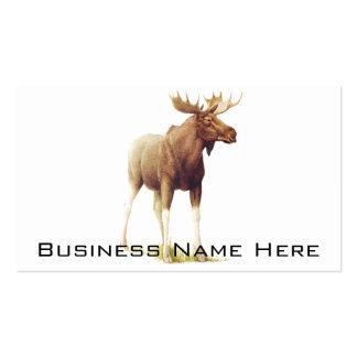Vintage Moose Illustration, Animal Drawing Business Card