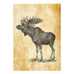 Vintage Moose Invitation