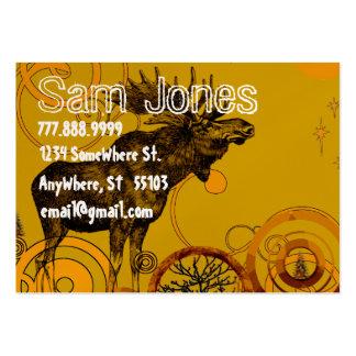 Vintage Moose Large Business Card