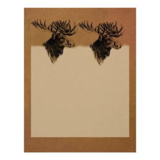 Vintage Moose Letterhead