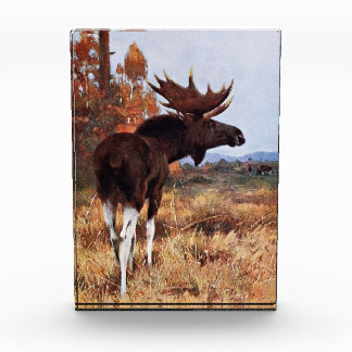Vintage Moose Painting Award
