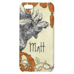 Vintage Moose Russet Damask iPhone iPhone 5C Covers