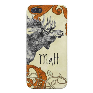 Vintage Moose Russet Damask iPhone iPhone SE/5/5s Case