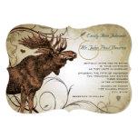 """Vintage Moose Wedding Invitations 5"""" X 7"""" Invitation Card"""
