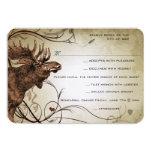 "Vintage Moose Wedding RSVP 3.5"" X 5"" Invitation Card"