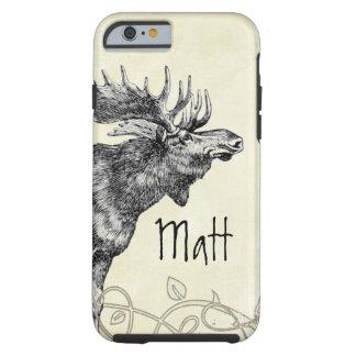 Vintage Moose Wildlife Tough iPhone 6 Case
