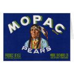 Vintage Mopac Pears Fruit Crate Label Card