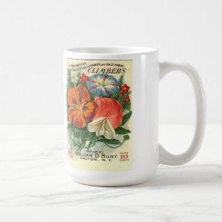 Vintage Morning Glory Garden Seed Packet - Mug