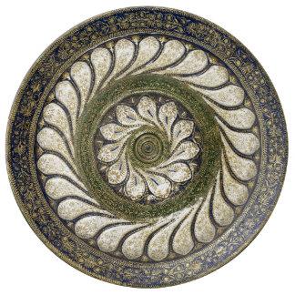 Vintage Moroccan design porcelain plate