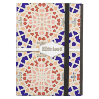 Vintage Moroccan Tile Abstract Pattern Modern Art iPad Air Cover