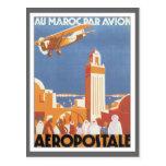 Vintage Morocco Aeropostale Mosque Postcard