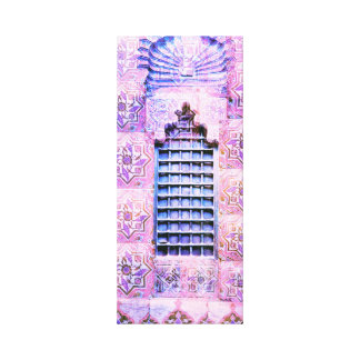 Vintage Morocco Window Pink Oranate Boho Chic Canvas Print