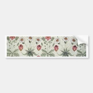 Vintage Morris Daisy Wallpaper Design Bumper Sticker