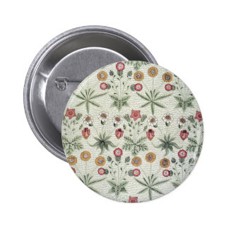 Vintage Morris Daisy Wallpaper Design Buttons