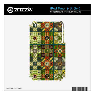 Vintage mosaic talavera ornament decal for iPod touch 4G