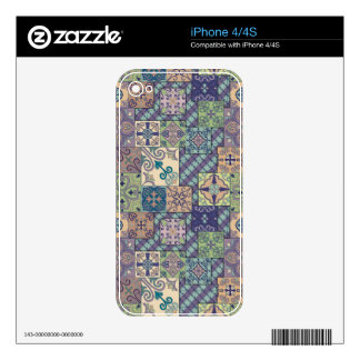 Vintage mosaic talavera ornament decal for the iPhone 4S