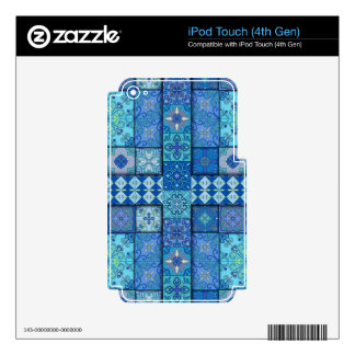 Vintage mosaic talavera ornament iPod touch 4G decals