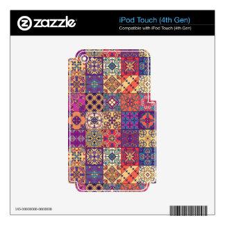 Vintage mosaic talavera ornament iPod touch 4G skin